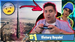 توبز يلعب فورت نايت في قمة برج خليفة !!