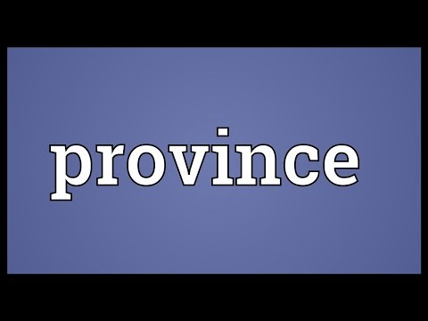 Province Meaning