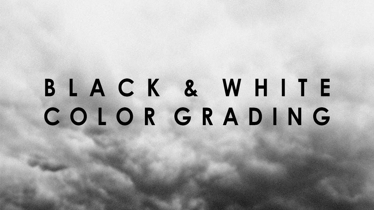 How to have quick easy black and white color grades in sony vegas