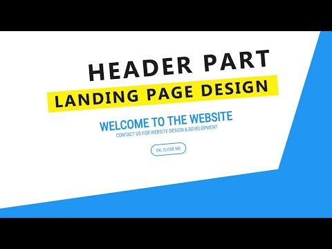 Landing Page Header Part Design With HTML & Anime