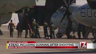3 victims and gunman killed at Naval Air Station in Pensacola