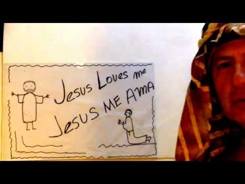 Learn Spanish Through Bible For Kids   Lesson One Jesus Loves Me