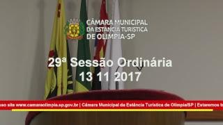 29ª Sessão Extraordinária 2017 13-10-2017