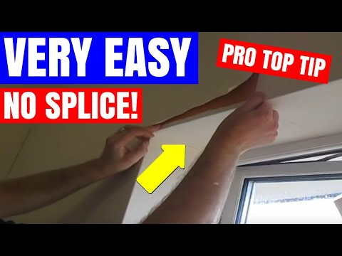 How To Wallpaper Around A Window, The Tricky Little Bit