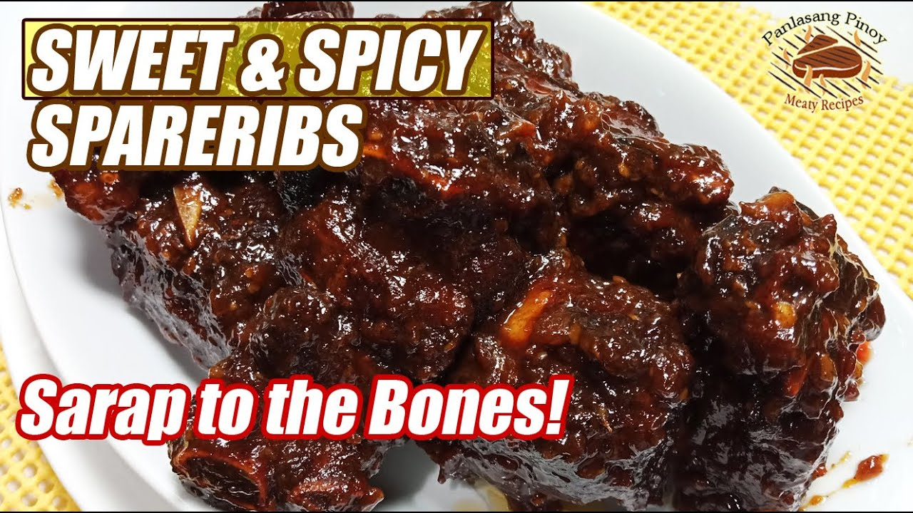 Sweet And Spicy Spare Ribs Kakaiba Ang Sarap Youtube