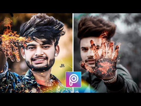 Hand Fire Cb Editing Trick In PicsArt   PicsArt Cb Editing Tutorial   Photo Editing In PicsArt