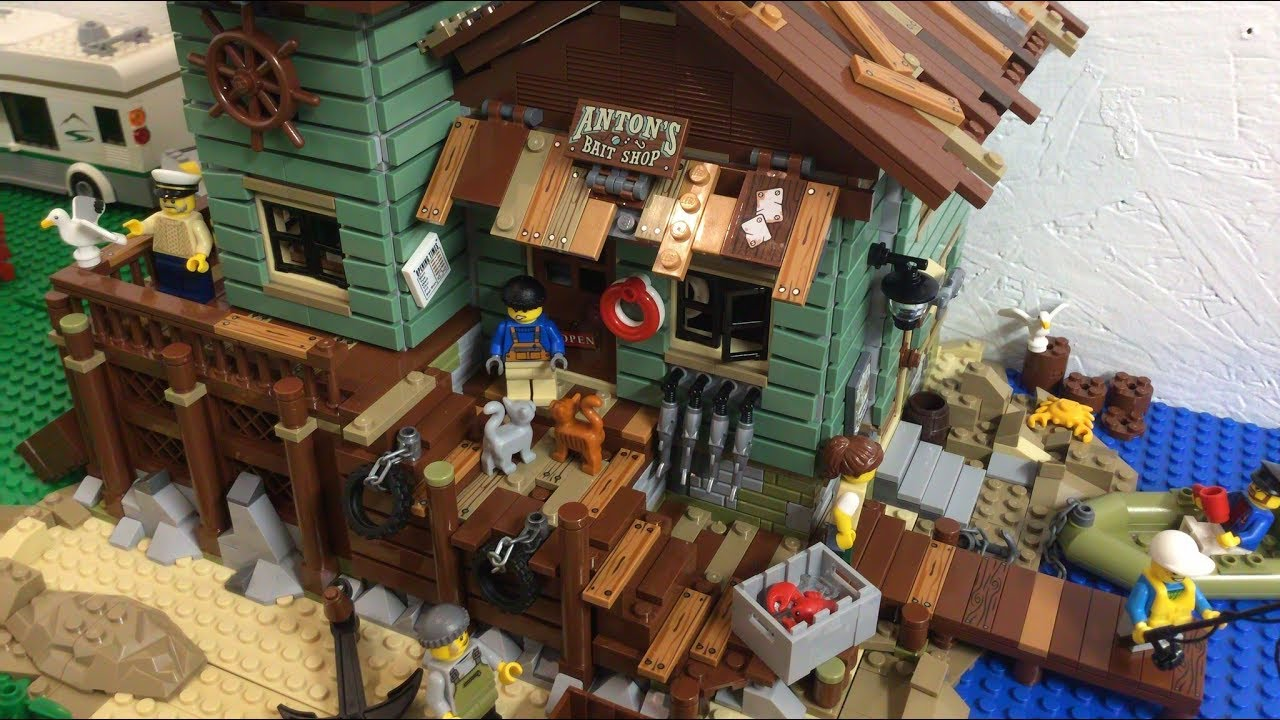 Placing the lego old fishing store in the city youtube for Lego old fishing store