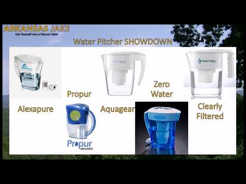 The Best Water Pitchers that Remove Fluoride   ZeroWater/Aquagear/Propur/Clearly Filtered/Alexapure
