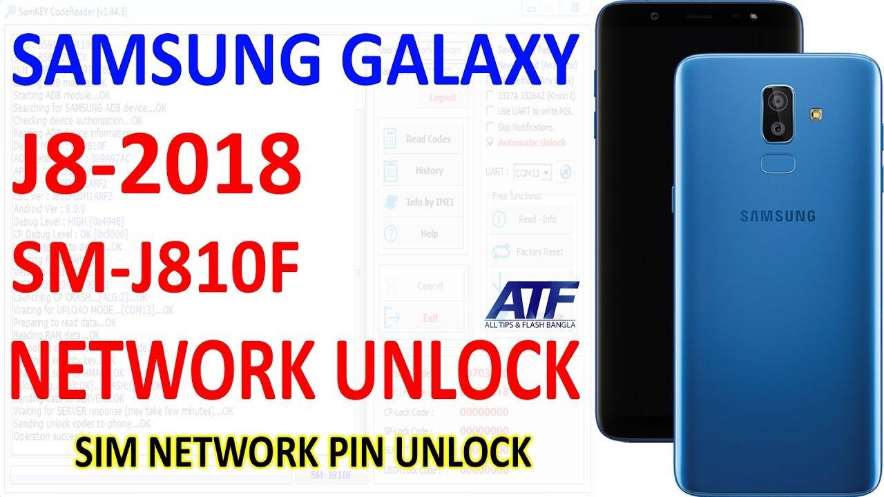 Samsung Galaxy J8 2018 SM-J810F Sim Network Unlock By Samkey
