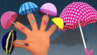 umbrella finger family | nursery rhymes | rain rain go away | 3d rhymes | kids songs
