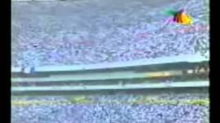 Afición Celayense copando el Estadio Azteca. Necaxa vs Atlético Celaya