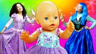 Vidéo drôle du poupon Bébé born : les  princesses méchante et gentille