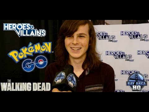 THE WALKING DEAD'S CHANDLER RIGGS TALKS POKEMON GO! Season 7 Heroes & Villains San Jose Interview