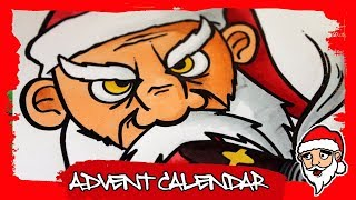 How to draw a bad/evil santa clause graffiti character (6th door)