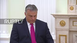 Russia: Putin and Hungarian PM Orban meet in Moscow