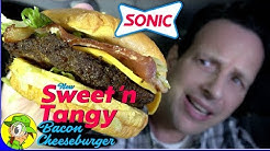 Sonic® | SWEET 'N TANGY BACON CHEESEBURGER Review 🥓🍔 | Peep THIS Out! 🚗🔊