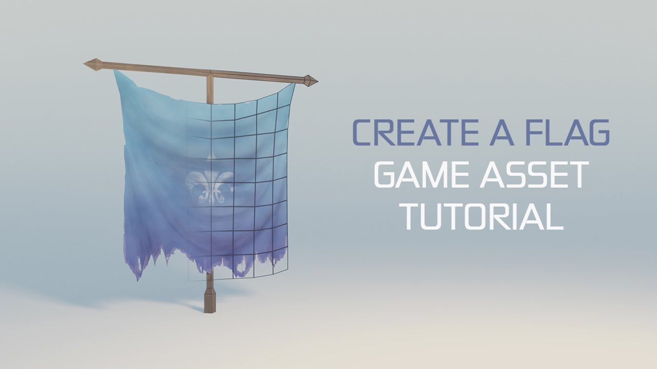 GAME ASSET TUTORIAL - How to Create a Flag in Blender (PART 1/2)