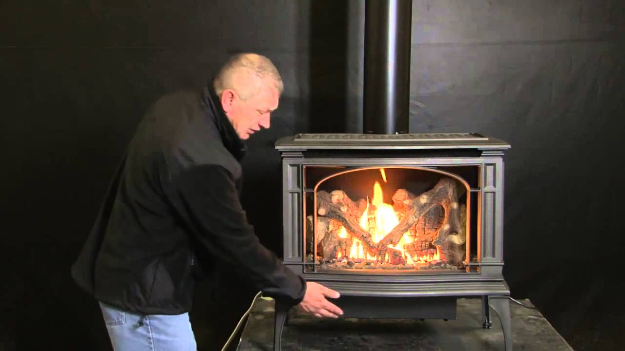 lopi greenfield gas stove hd youtube