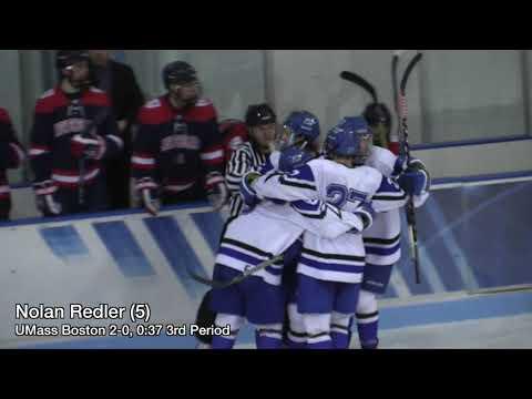 UMass Boston Men's Hockey Vs. New England College (11/3/18) Highlights