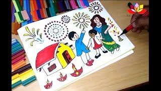 How to Draw Diwali Coloring Pages for Kids