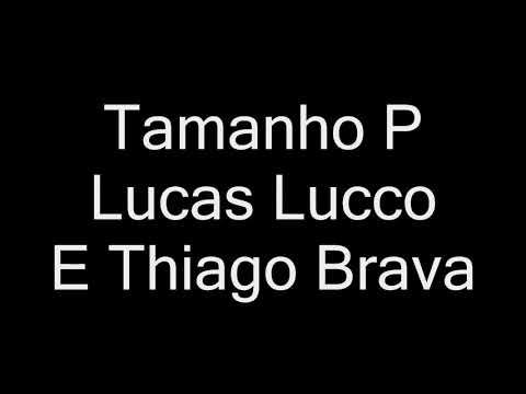 Lucas Lucco E Thiago Brava - Tamanho P letra DeBoaNaLagoa