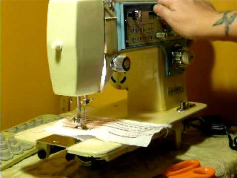 VINTAGE DRESSMAKERWHITE MODEL S 40 CAM SEWING MACHINE YouTube Adorable How To Thread The Bobbin On A Dressmaker Sewing Machine