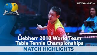 2018 World Team Championships Highlights | Xu Xin vs Diogo Carvalho (Group)