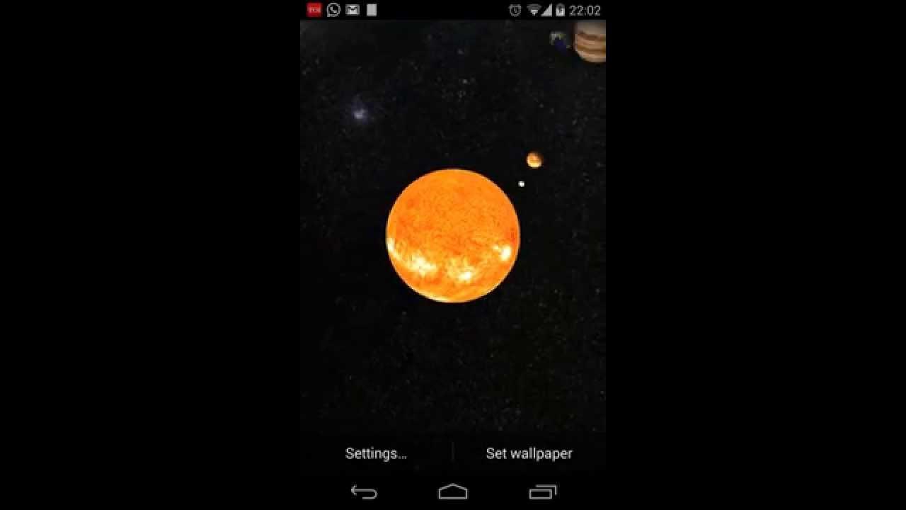 Solar System Live Wallpaper 3D - YouTube