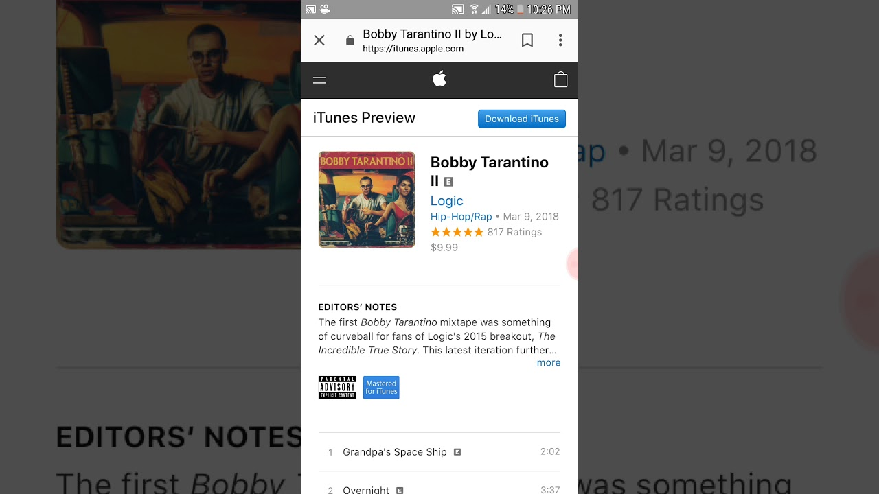 Logic bobby tarantino itunes | DOWNLOAD ALBUM: Logic  2019-05-16