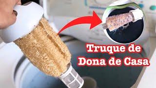 Coloque a Esponja na Maquina de Lavar – Resultado Incrível