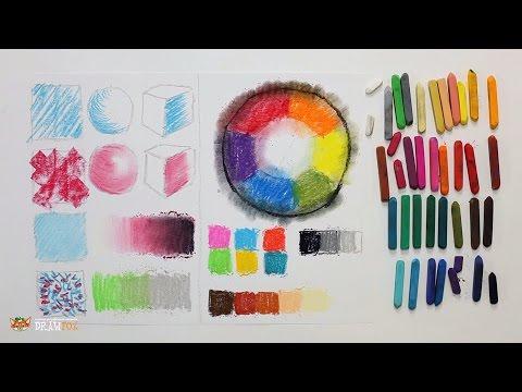Уроки видео сухой пастелью