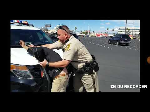 Las Vegas Police Officer Caught Choking And Slamming Auditor Against The Hood Of His Patrol Car