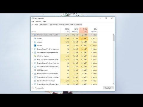 Hướng dẫn khắc phục full disk 100% trên Windows 10 - How to disable windows  defender Win 10 Creator