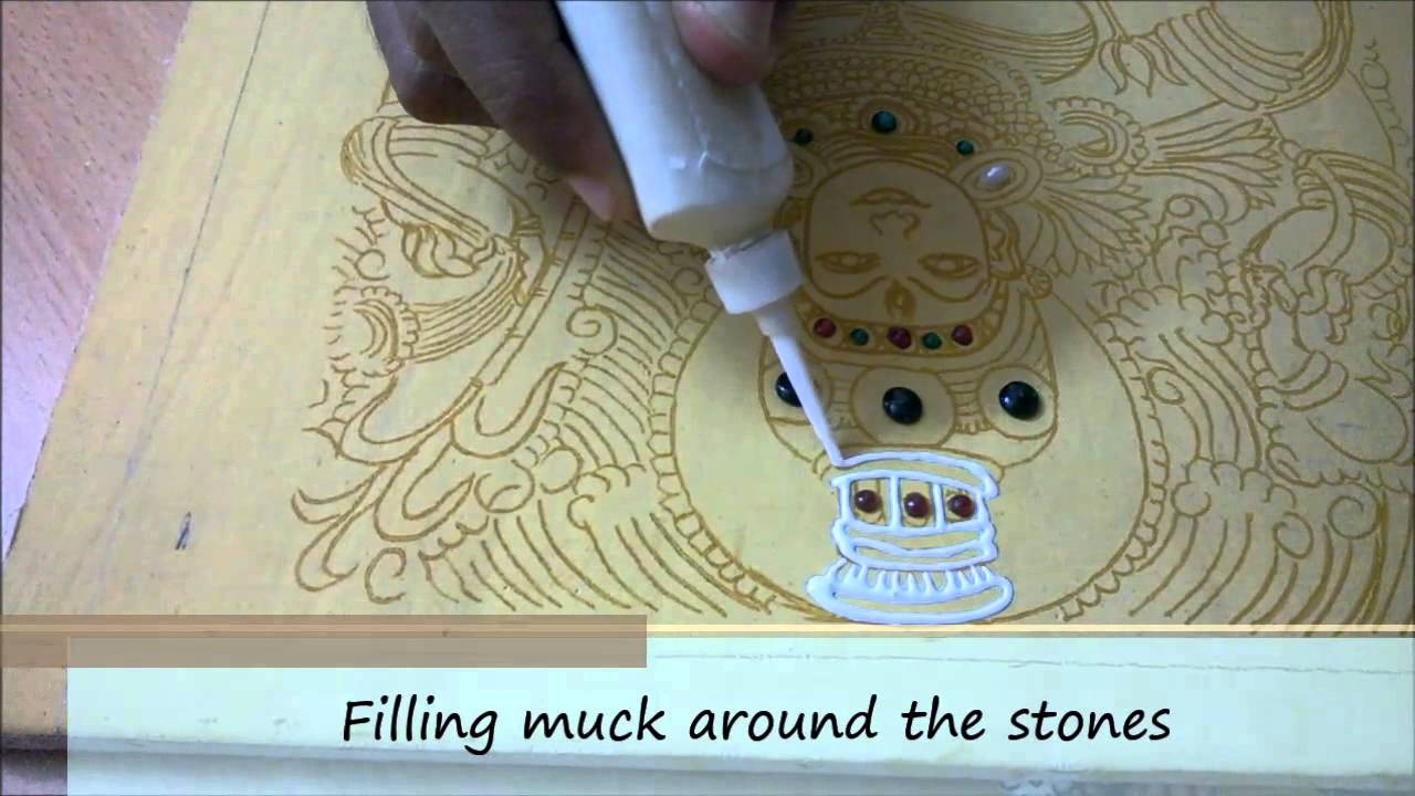 Step 5a muck relief work tanjore painting kerala for 3d mural painting tutorial