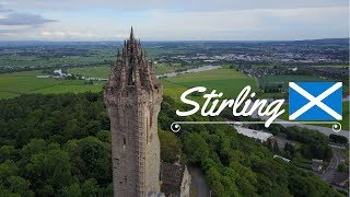 Stirling Castle & Wallace Monument Drone Footage (4K)