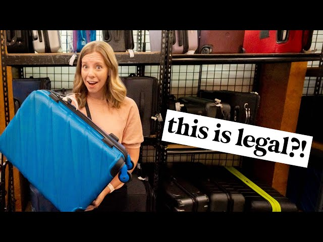 🤯CRAZY finds shopping people's LOST unclaimed luggage