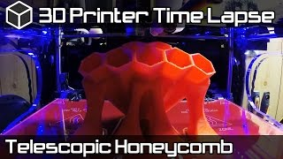 3D Printer Time Lapse - Telescopic Honeycomb Pen/Screwdriver Holder