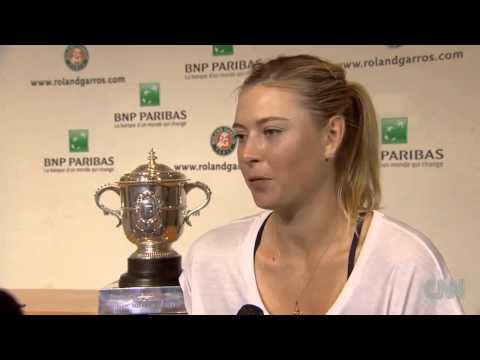 Maria Sharapova wins French Open 2014 Interview