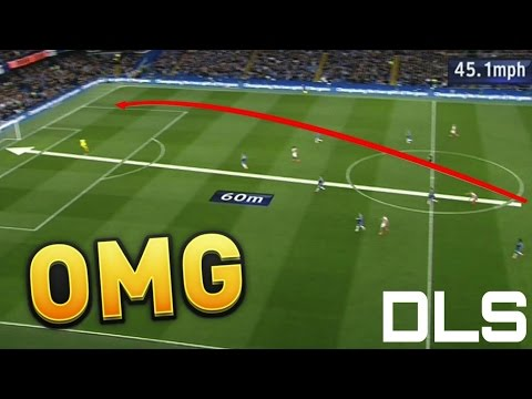 Best LONG RANGE goals of dream league soccer 2016 / dls 16 (Top 6) (Goal from midline at no. 1)