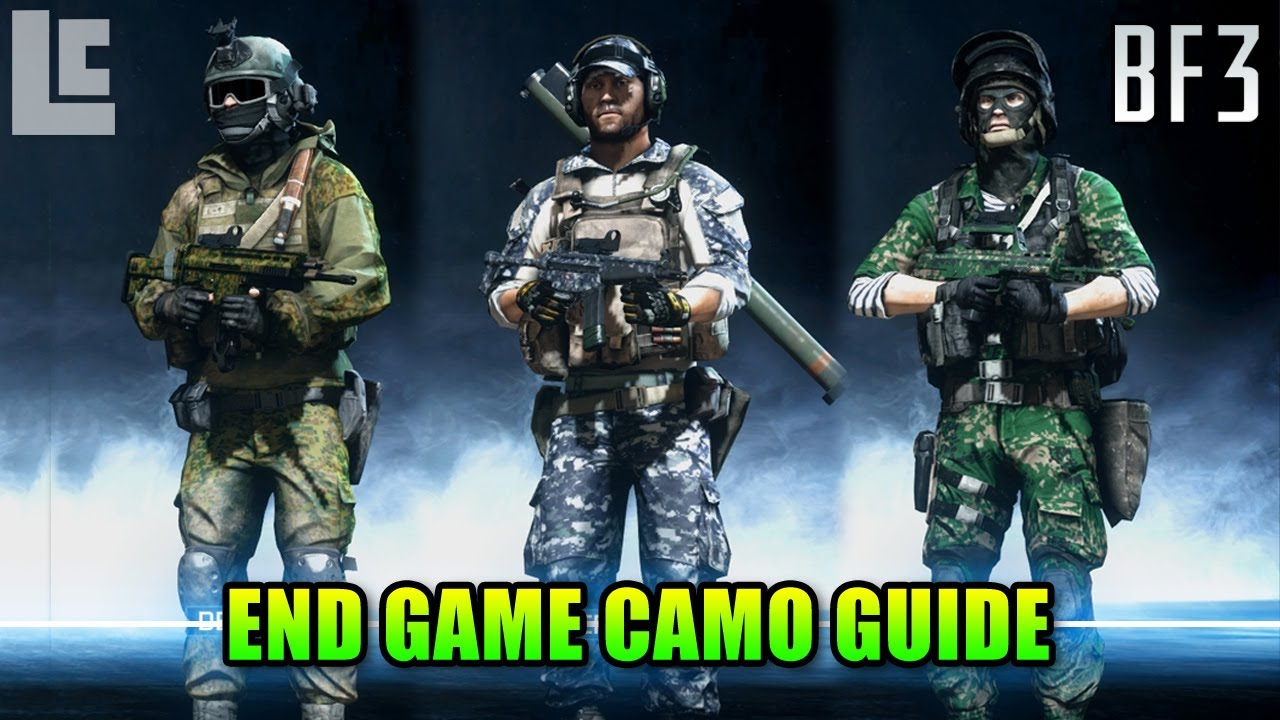 Black Camouflage Wallpaper End Game Premium Weapon Camo Guide Battlefield 3 Gameplay