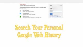Google Search History ~ How To Look Up Your Personal Search History
