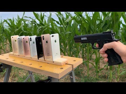 Many IPhones Vs GUN