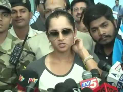 Grand Welcome to Sania Mirza after win US open at Hyderabad
