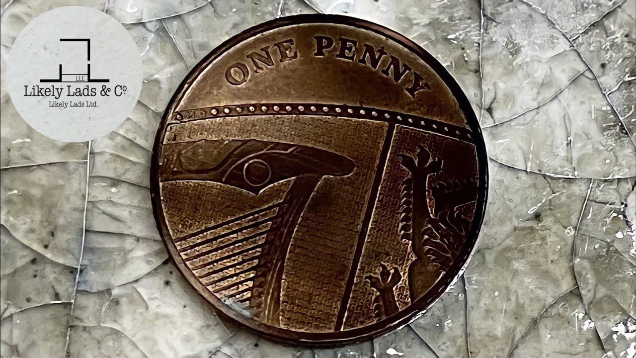 イギリスのハープコイン磨き 1ペニー硬貨鏡面仕上げ IN ハープとティアラの街大阪 1 PENNY Coin Polish TIme Lapse ASMR