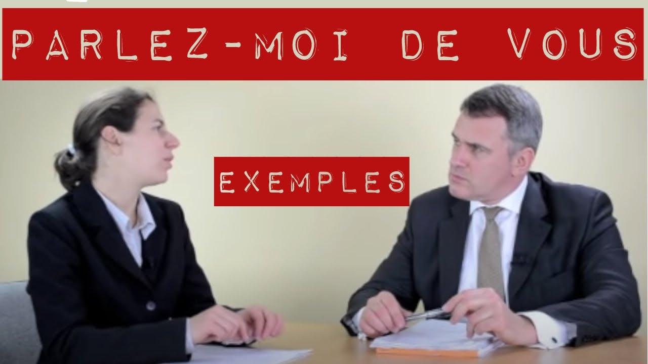 🏆 Parlez moi de vous entretien d'embauche : exemple de ...