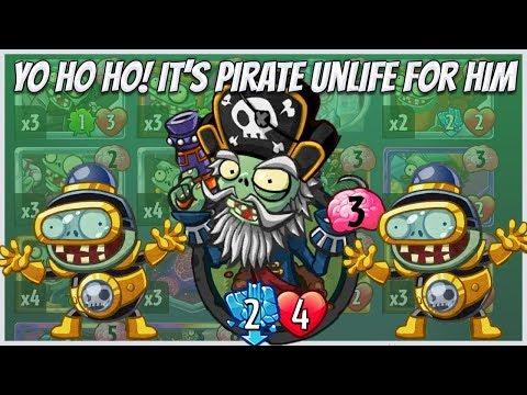 Captain Deadbeard - Event Card in Impfinity Strategy Deck - Plants vs Zombies Heroes Gameplay