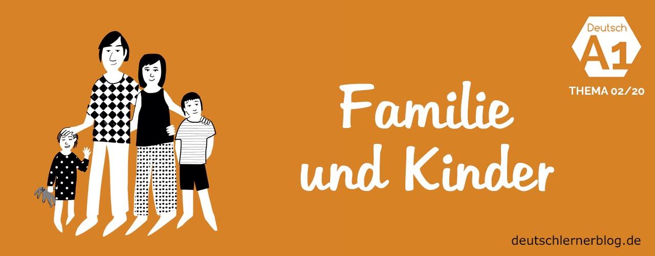 deutsch lernen deutschkurs a1 thema 02 20 familie und kinder youtube. Black Bedroom Furniture Sets. Home Design Ideas