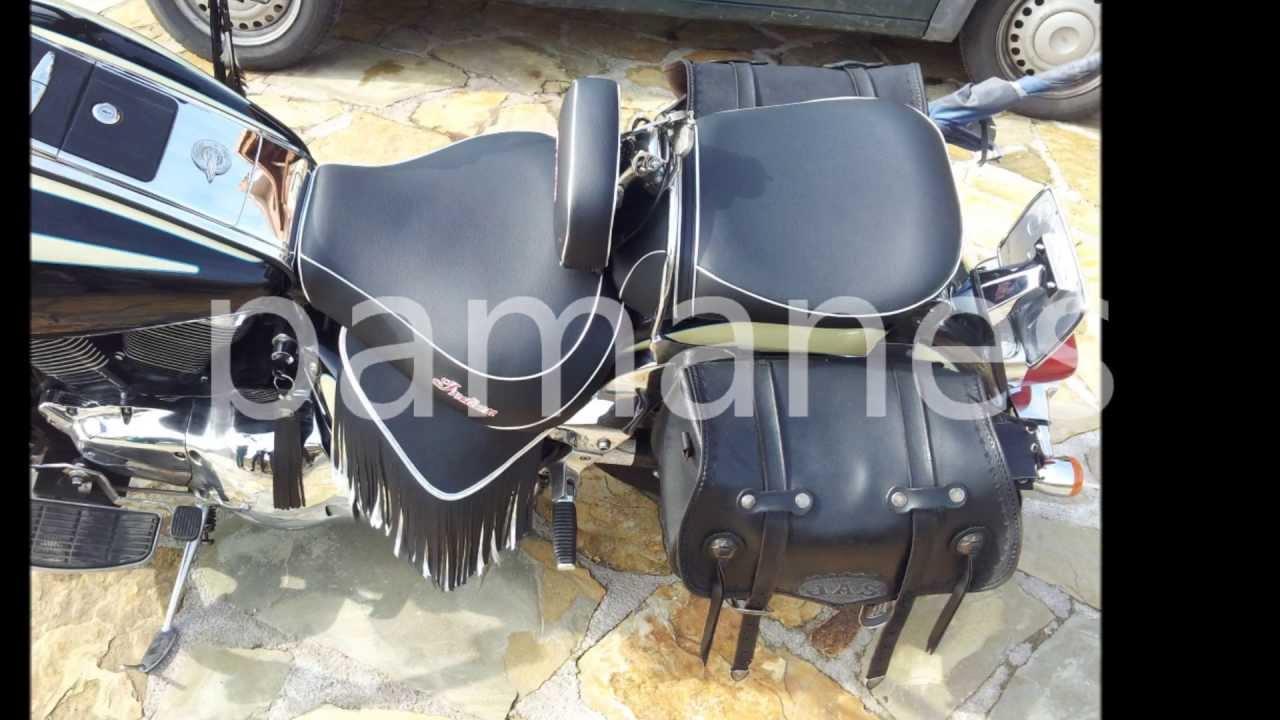 Tapizar asiento moto suzuki intruder 1500 indian youtube for Tapizar asiento moto madrid