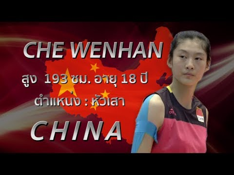Cute Girls SMM AVC U19   Che Wenhan (車吻痕) สาวหมวยตบหนักจากจีนแผ่นดินใหญ่