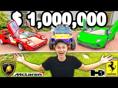 I SPENT $1,000,000 ON CARS!!
